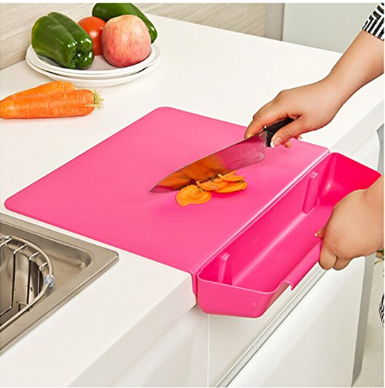 Picture of Cutting Board with Waste Container Plastic - 40 x 38 Cm