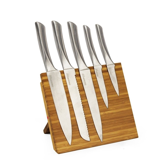 Picture of Knife Block with 5 Knives - 22 x 22.5 Cm