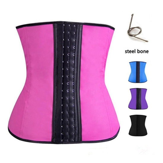 Picture of Latex Waist Corset Girdle Shapewear Pink