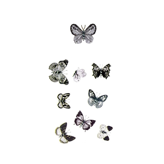 Picture of 9 PCS 6D Butterfly Wall Stickers Crafts Butterflies DIY Art Decor Home Room Decorations