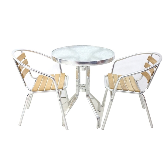 Picture of Small Glass Table with 2 Chairs