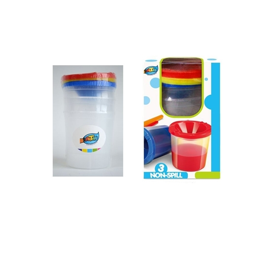Picture of Children Paint Cups with Lids 3Pcs