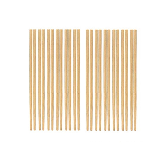 Picture of Chinese Bamboo Chopsticks 10 Pairs Brown Bamboo Chopsticks