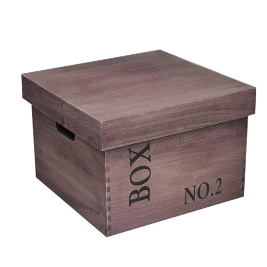 Picture of WOOD STORAGE BOX LARGE