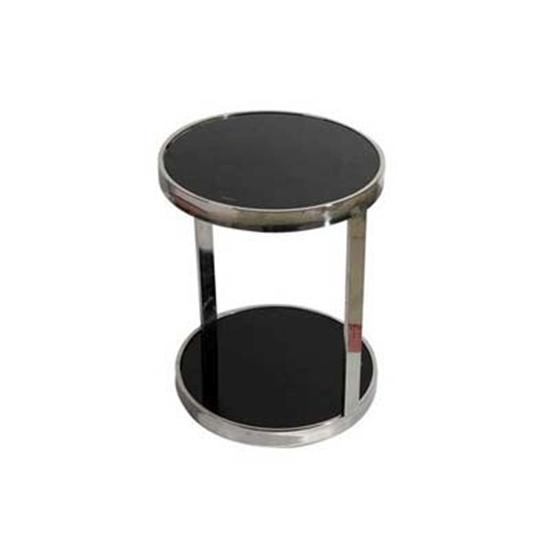 صورة Circle side table black