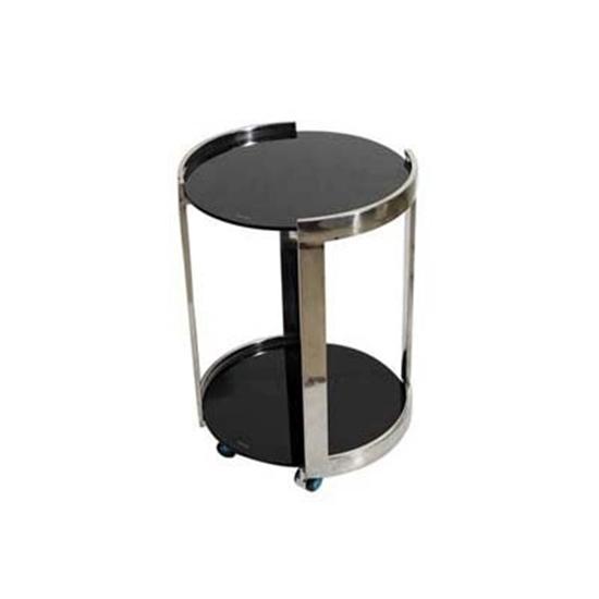 صورة Side Table with Wheels