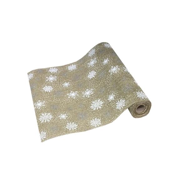صورة Home Fashions Snowflake Embroidered Christmas Table Runner CM 36X500cm