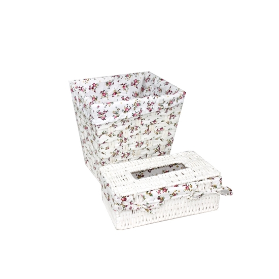 Picture of FLORAL BASKET AND TISSUE BOX 680-10