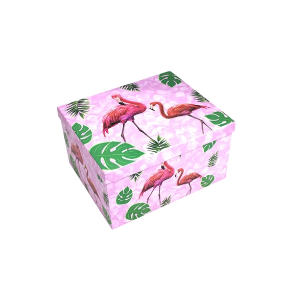 Picture of Flamingo Gift Box - 28 x 24 x 15 Cm