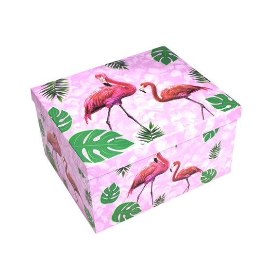 Picture of Flamingo Gift Box - 30 x 25 x 16 Cm