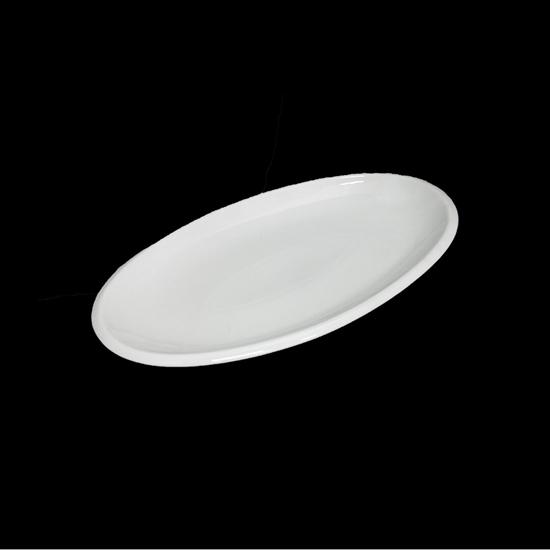 صورة Porcelain Oval Platters/Serving Plates, Off-White, Stackable, Great For Displaying All Your Needs
