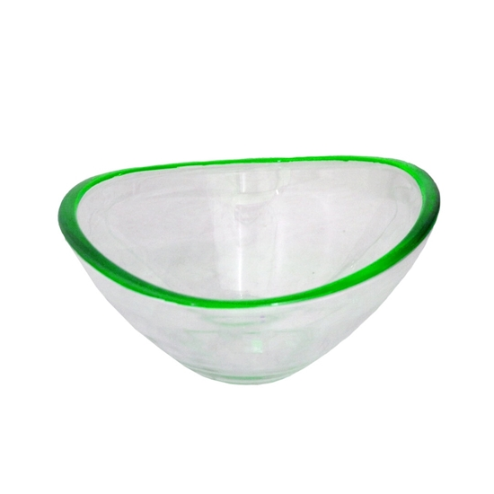 Picture of Glass Bowl with Green Color - 26.5 x 8.5 Cm
