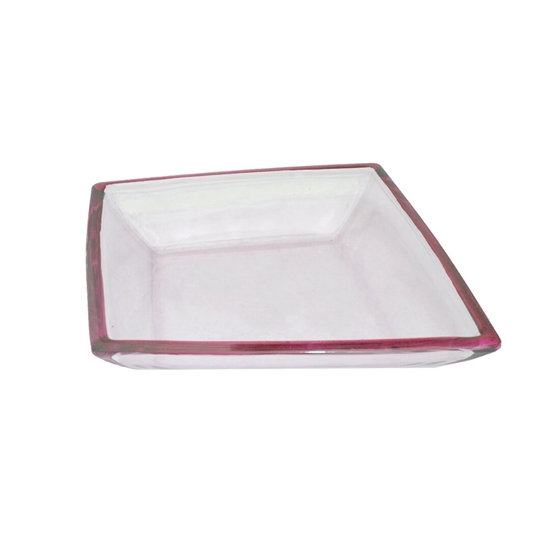 Picture of Glass Bowl with Red Color - 40 x 5 Cm