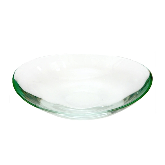 Picture of Oval Glass Bowl with Green Color - 43 x 8.5 Cm