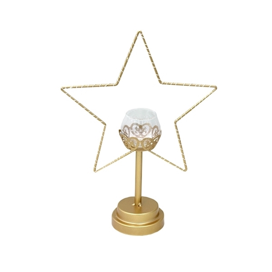 Picture of Gold Star Candle Holder - 35 x 25 Cm