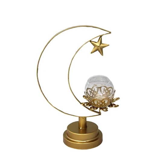 Picture of Gold Moon Candle Holder - 28 x 18 Cm