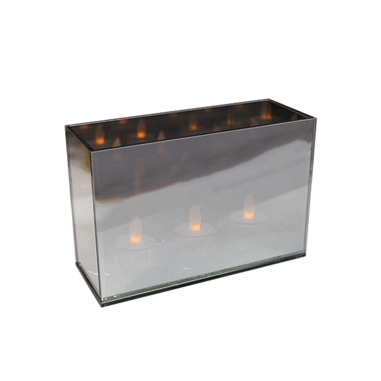 Picture of Glass Tealight Holder - 18 x 12 x 7 Cm