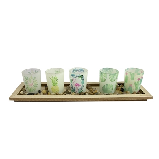 Picture of Five Candle Holder - 40 x 9 x 11 Cm