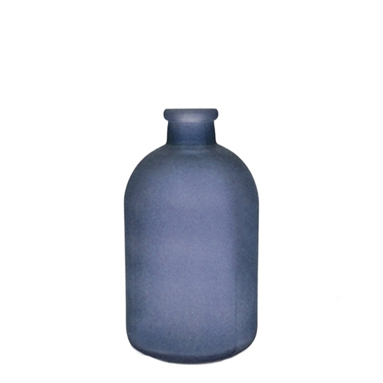 Picture of Blue - Frosted Glass Vase - 17 x 5 Cm