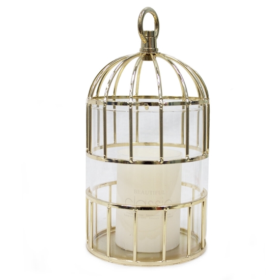 Picture of Gold Cage Candle Holder - H: 32 Cm