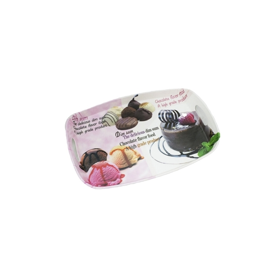 Picture of Printed Serving Melamine Tray -  41 x 28 Cm