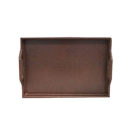 Picture of Large Leather Tray - 47 x 32 x 9 Cm