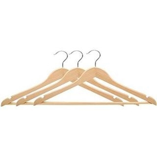 Picture of 3 PCs Wooden Hanger  - 44.5 x 22 Cm