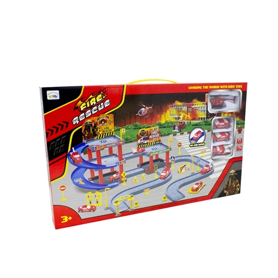 Picture of Fire Rescue Toy Play Set  - 92 Pcs