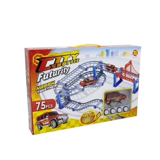 Picture of City Shuttle Track Racing Set - 75 Pieces