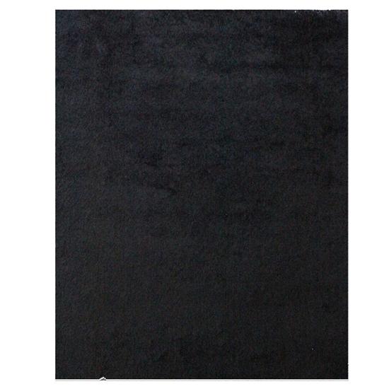 صورة سجّادة وبر طويل باللون الأسود قياس 160 × 230 سم