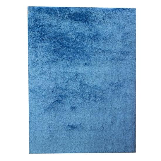 صورة سجّادة وبر طويل باللون الأزرق قياس 140 × 200 سم