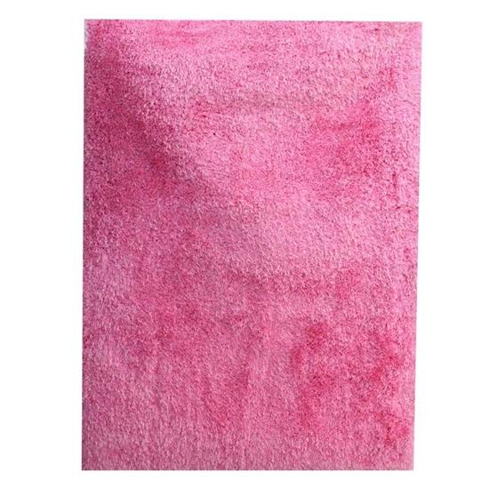 صورة سجّادة وبر طويل باللون الوردي قياس 160 × 230 سم