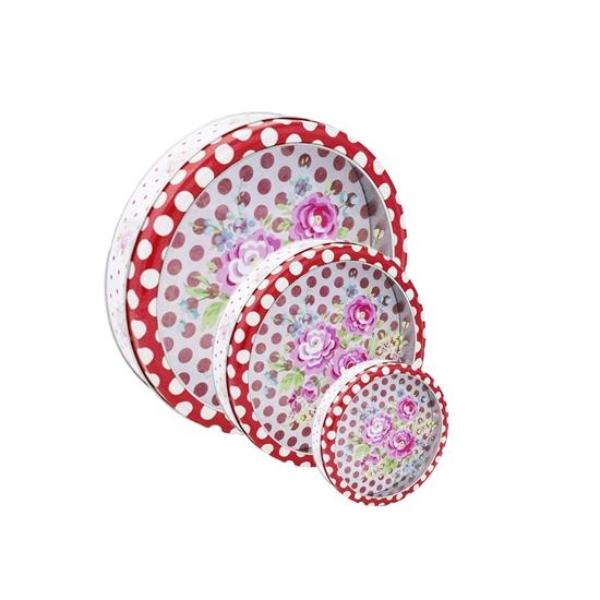 صورة صناديق تخزين دائرية الشكل متعددة الإستخدامات عدد 3