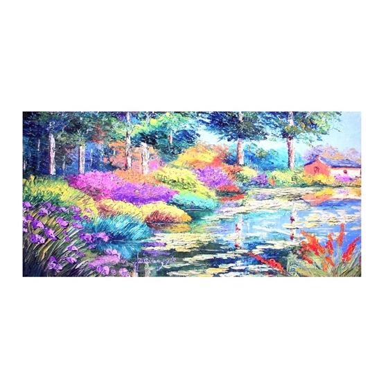 صورة لوحة كانفس مطبوعة  قياس 60 × 120 سم