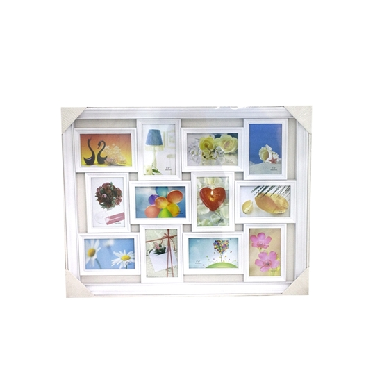 Picture of 12 Openings White Decorative Wall Hanging Collage - 67 x 53 Cm