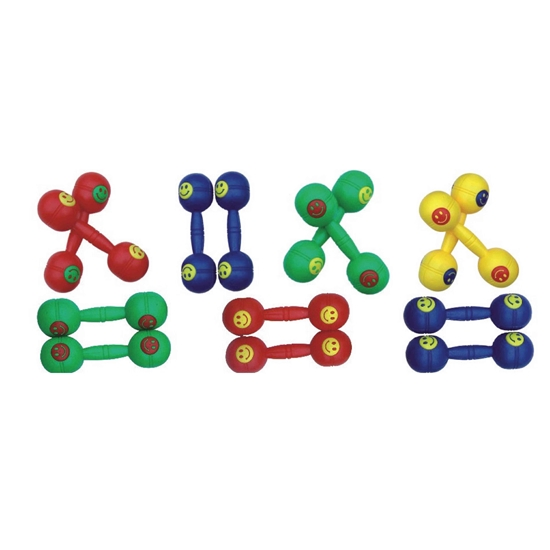 Picture of LIGHT WEIGHT PLASTIC DUMBBELLS SET - 16 x 5 Cm