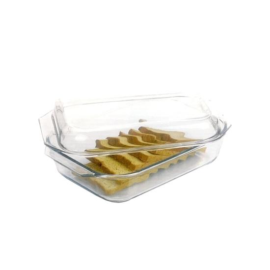 صورة Rectangular microwave safe glass borosilicate baking dishes, High Quality Glass Baking Pan, Pyrex glassware