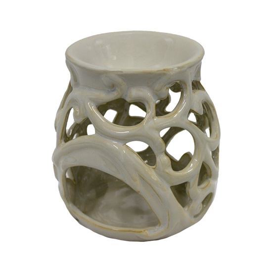 Picture of Ceramic Oil Warmer. Ideal Gift for Weddings, Spa, Meditation, and Aromatherapy