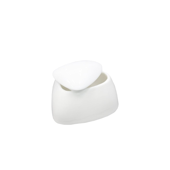 Picture of Ceramic Sugar Bowl with Lid - 7 x 5 Cm