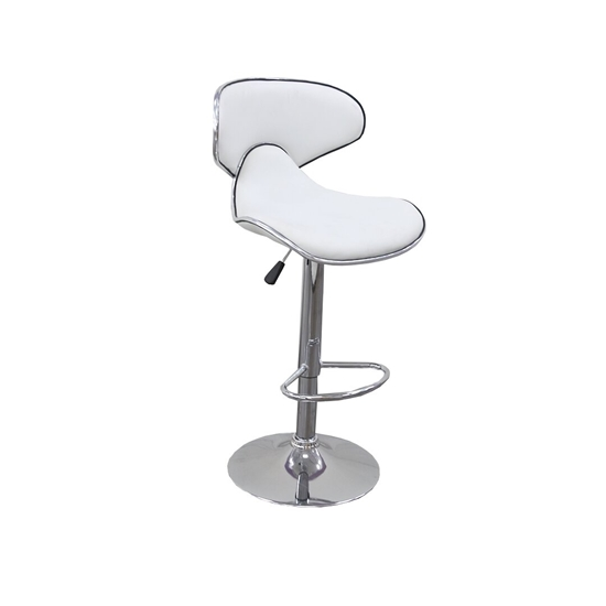 Picture of White - Strong Stools with Metal Leg - 39 x 32 x 82 Cm