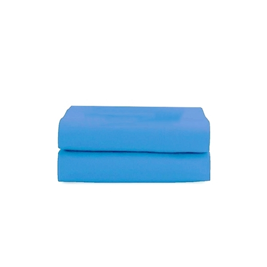 Picture of King - Cotton & Polyester Blue Flat Sheet - 260 x 275 Cm