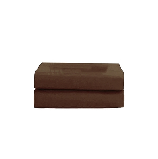 Picture of King - Cotton & Polyester Brown Flat Sheet - 260 x 275 Cm