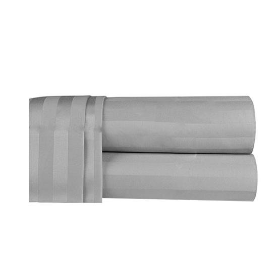 صورة شرشف سرير بزوايا مطاط باللون الرمادي الفاتح مقاس 40 × 200 × 200  سم - كينج
