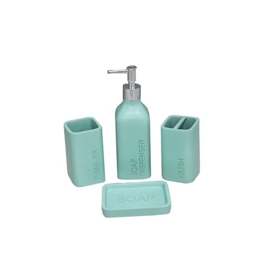 Picture of 4-Piece Ceramic Bathroom Set - 38 x 29 x 24 Cm