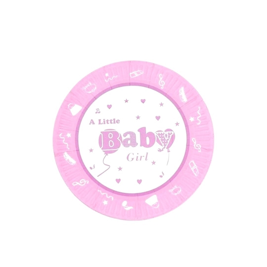Picture of Baby Girl Paper Plate