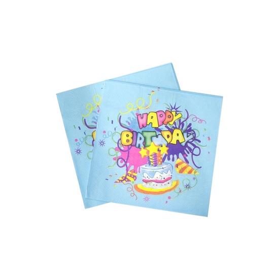 صورة Lets Party Happy Birthday Napkin BIRTHDAY NAPKIN