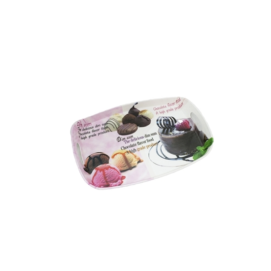 Picture of Printed Serving Melamine Tray - 36 x 24 Cm