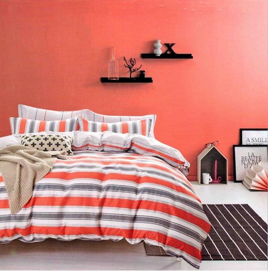 صورة Queen - 4 Pieces Sheet Set - 100% Cotton Sheets - Fitted Sheet, Duvet, Pillow Cases