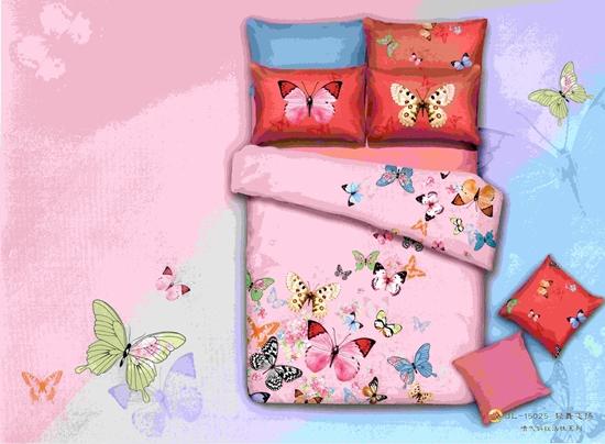 صورة Single - 3 Pieces Sheet Set - 100% Cotton Sheets - Fitted Sheet, Duvet, Pillowcase