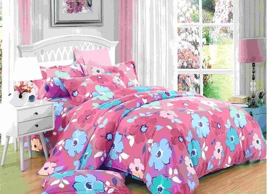 صورة King - 6 Pieces Sheet Set - Cotton & Polyester Sheets - Fitted Sheet, Duvet, Pillow Cases